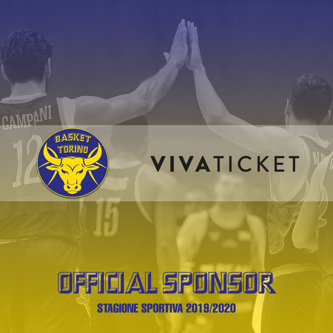 VIVATICKET E VIVAEVENTS DIVENTANO OFFICIAL SPONSOR DELLA REALE MUTUA BASKET TORINO