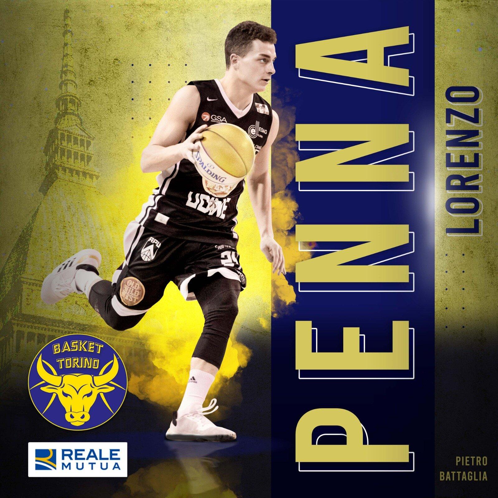 La Reale Mutua Basket Torino annuncia l'accordo con Lorenzo Penna