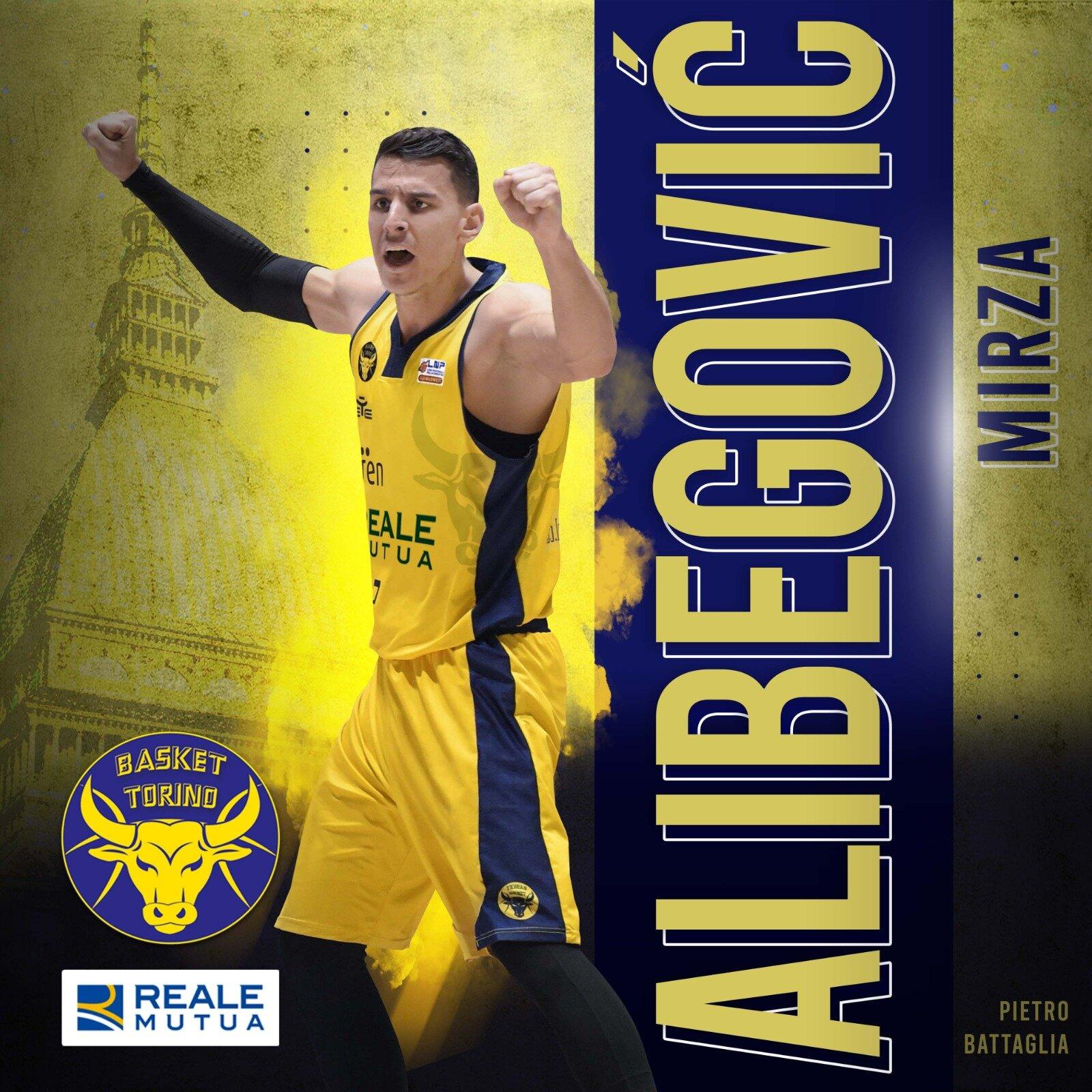 Reale Mutua Basket Torino, rinnovo pluriennale per Mirza Alibegovic