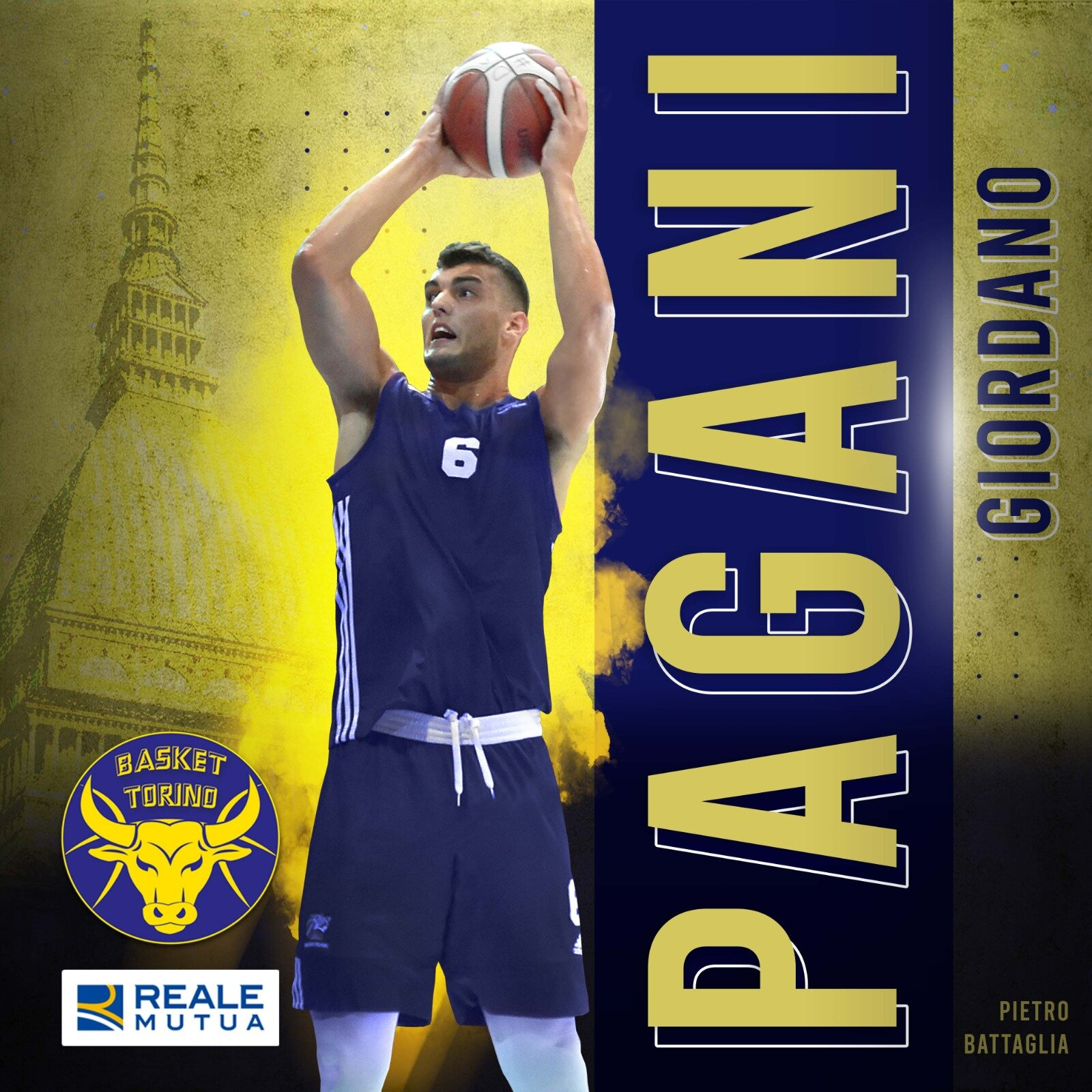 Ufficiale: Giordano Pagani firma alla Reale Mutua Basket Torino